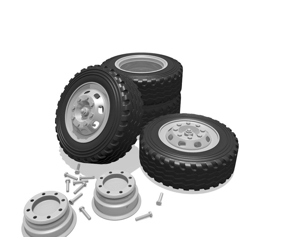 obj truck wheels
