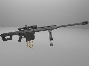 free barrett m107 3d model
