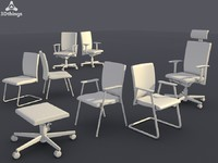 3dsmax conference chair set 07