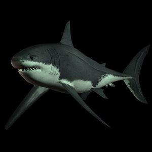 3d 3ds great white shark