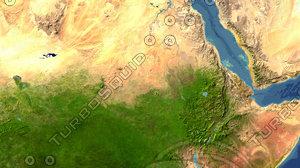 3d sudan maps model