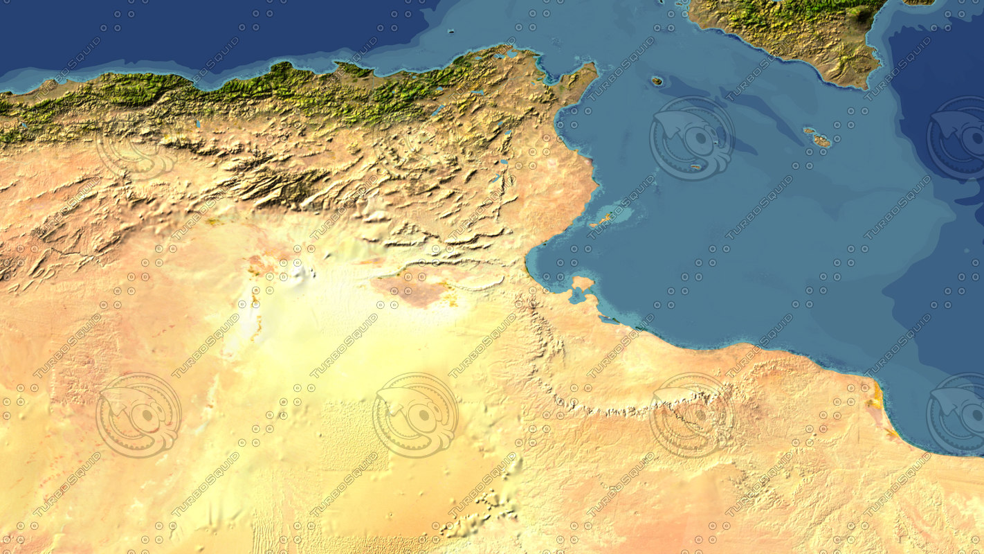 3d model tunisia maps