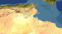 3d model tunisia maps