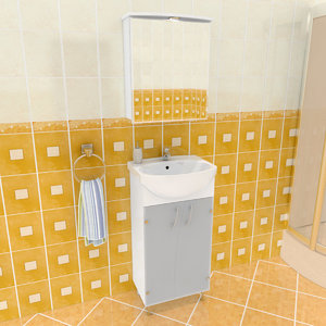 3ds max na bathroom set