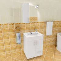 3d ds bathroom set model