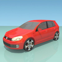 3ds max low-poly golf gti