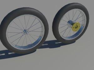 spoke-ed wheels 3d 3ds