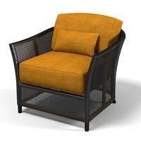 3d wicker rattan armchair