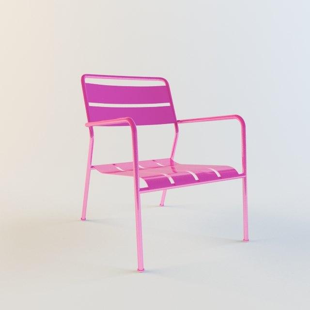 3d model ikea deck chair