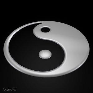 3d ying yang