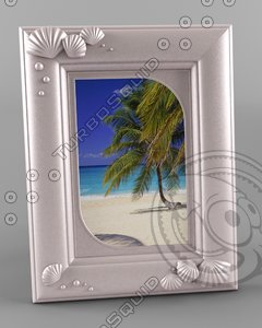 photo frame sea 3d model