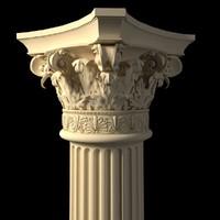 corinthian column 3d model