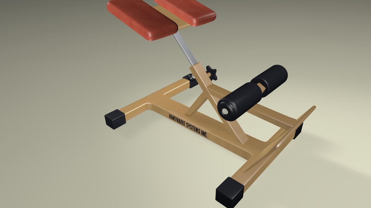 free gym device 3d model