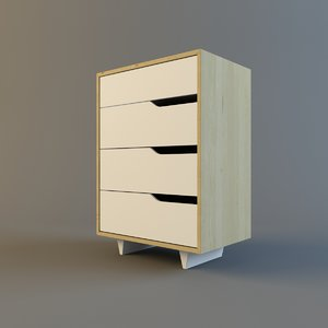 ikea mendal chest 4 3d max
