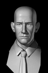 3d human heads faces model