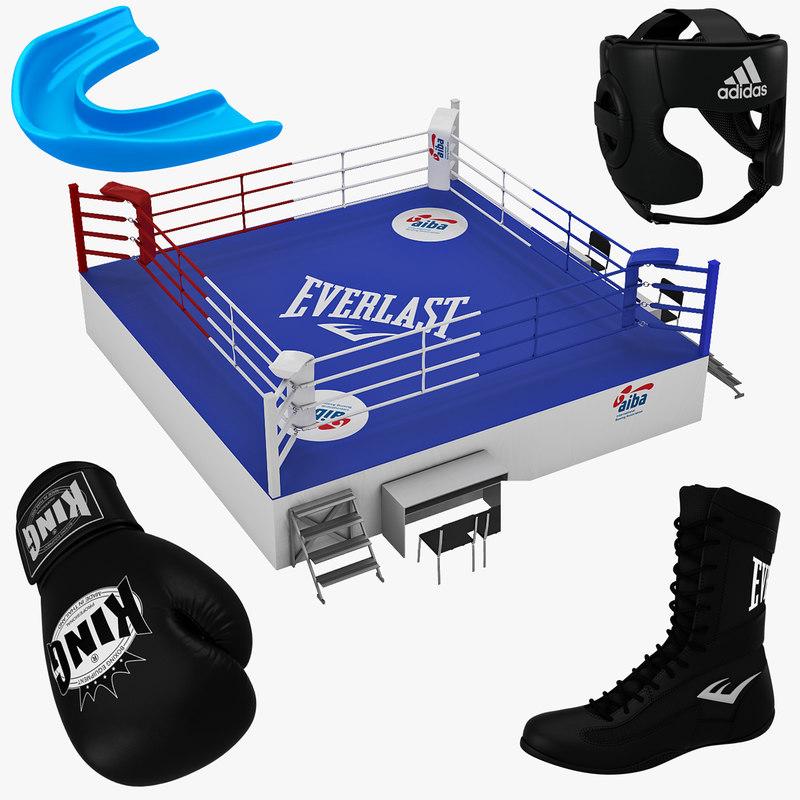 3d model boxing equipment ring