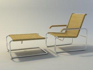 3d 3ds breuer s35 armchair stool