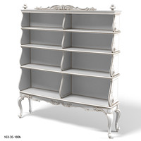 CHELINI 1239 library classic baroque carved etagere bookcase