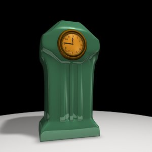 3d c4d art deco clock