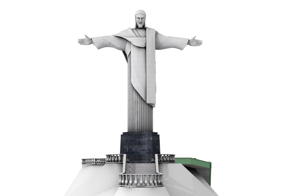 3dsmax christ redeemer