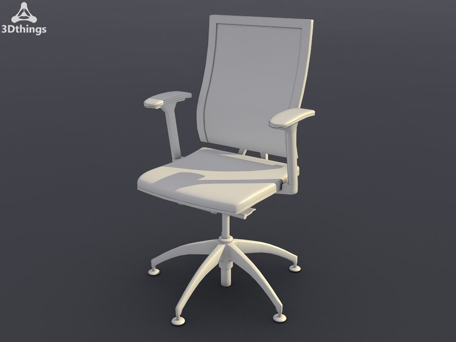 3d conference chair open swivel model