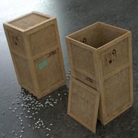 maya wood crate