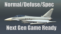 EF2000 Eurofighter Typhoon Jet  Game Ready Model