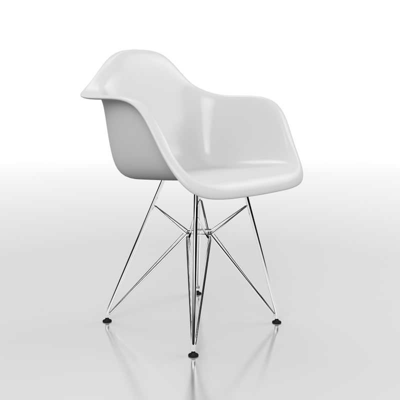 eames dining chair obj