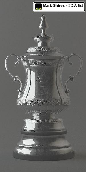 fa cup 3d model