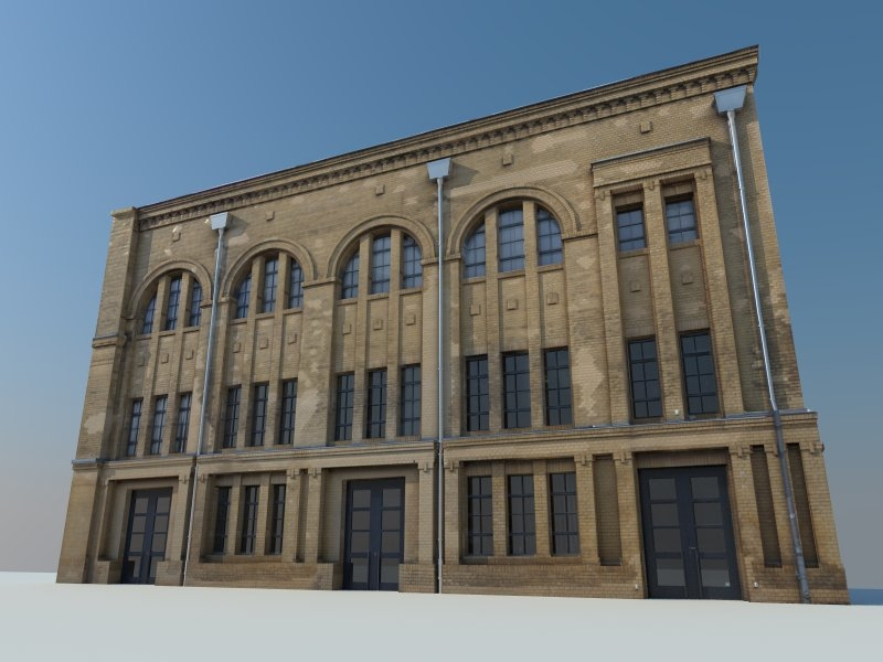 3d environments facade model