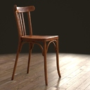 Photorealistic French Bistro Chair