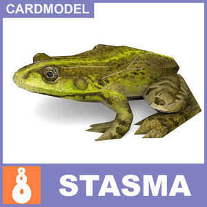 free 3ds mode paper frog papermodel