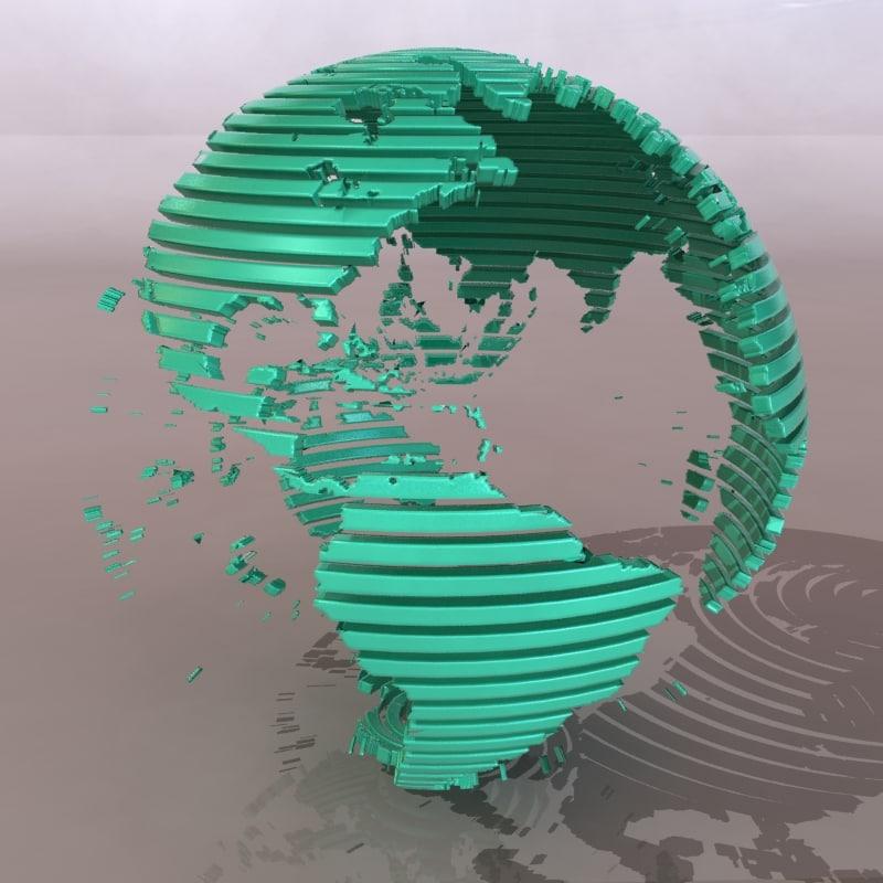 3d model globe financial