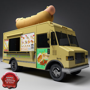 hot dog truck 3d 3ds