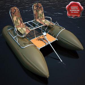 3d model inflatable catamaran