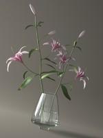 ornamental lily vase 3d model