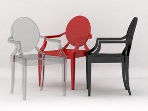 stark louis ghost chair 3d 3ds