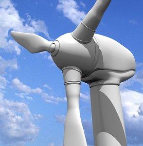 realistic wind turbine 3ds