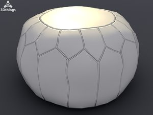 3d leather puff ball model