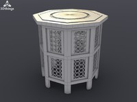 octagonal hand carved 3d max
