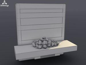3d model opus electric fireplace