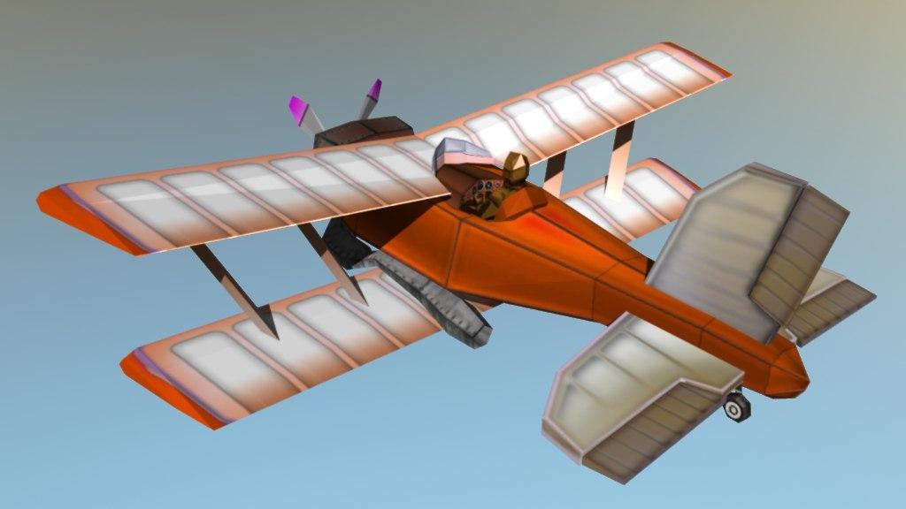 planes low-poly propeller 3d model
