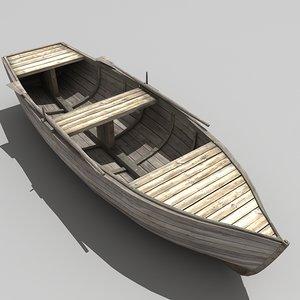 row boat 3d max