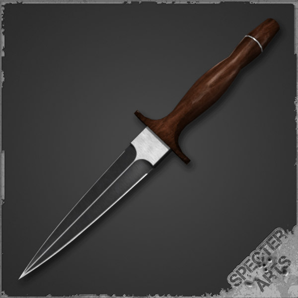 3ds max spear point dagger