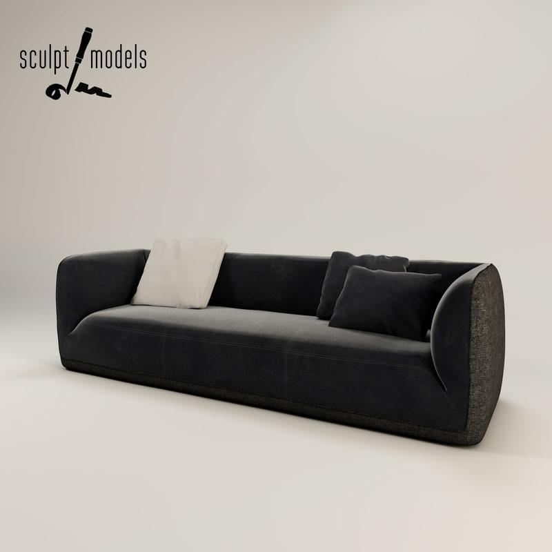 3ds max fashion supersoft sofa