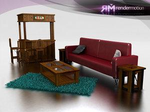c5 s1 acapulco living 3d model