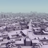 3ds max arab city suburb mass