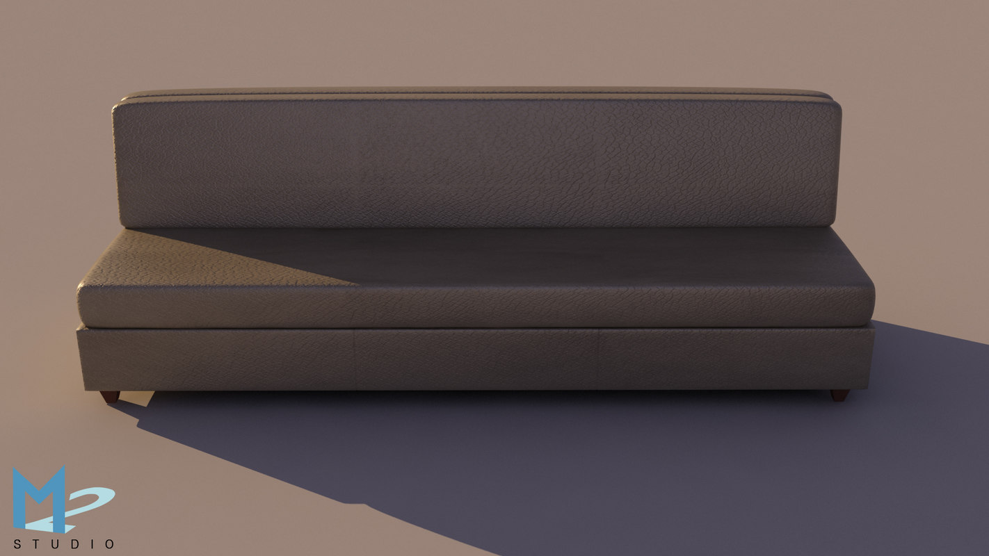 fold-out sleeper sofa 3d model