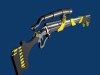 3d model rifle fantasy