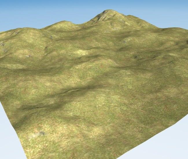 terrain landscape 3d obj